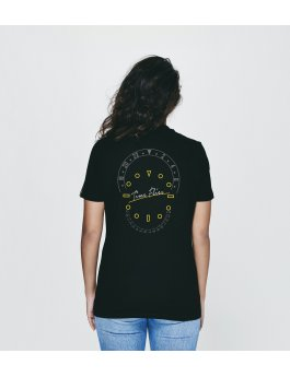 Time Flies T-shirt The Combination of Parts - Slim Fit Black