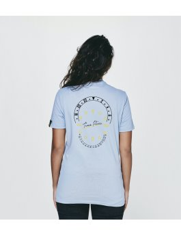 Time Flies T-shirt The Combination of Parts - Slim Fit Blue