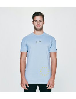 Time Flies T-shirt The Dial - Slim Fit Blue