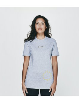 Time Flies T-shirt The Dial - Slim Fit Grey