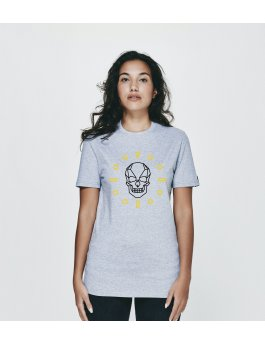 Time Flies T-shirt The Skull Dial - Slim Fit Grey