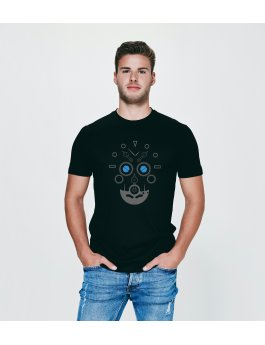 Time Flies T-shirt The Skull of Time - Slim Fit Black