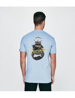 Time Flies T-shirt The Time Explosion - Slim Fit Blue